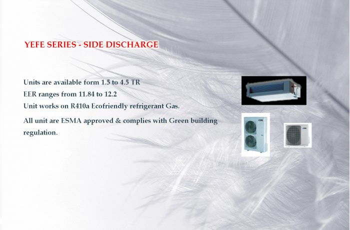 YEFE SERIES – SIDE DISCHARGE