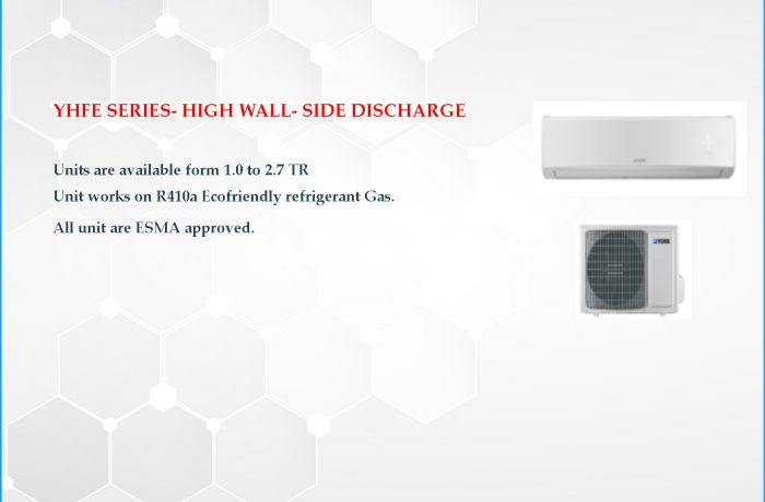 YHFE SERIES- HIGH WALL- SIDE DISCHARGE