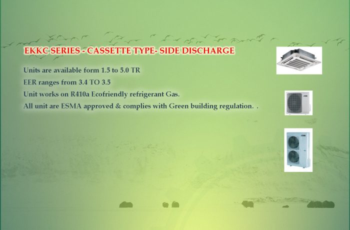 EKKC SERIES – CASSETTE TYPE- SIDE DISCHARGE