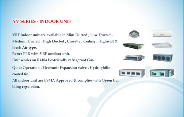 YV SERIES – INDOOR UNIT