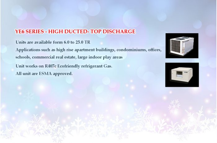YE6 SERIES – HIGH DUCTED- TOP DISCHARGE